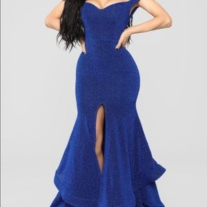 Blue stardust Maxi Dress